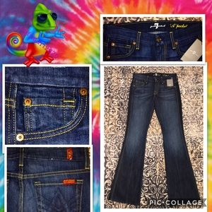 """7 FOR ALL MANKIND A POCKET JEANS SIZE 0 24""""wX31""""l"""